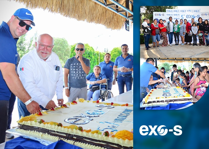 Exo-s welcomes more than 600 people at the Termas del Rey waterpark, in Tequisquiapan, Mexico, to thank its employees and their families in addition to celebrate the 5th year of the San Juan del Rio plant acquisition!